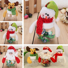 Christmas Santa Claus Reindeer Candy Gift Bottle Box Decoration Child Gift Case