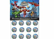 EDIBLE CAKE IMAGE  MARVEL SUPERHERO SQUAD  ICING SHEET  PARTY TOPPER OR CUPCAKES