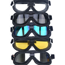 Motorcycle Helmet Goggles Outdoor Sports Glasses Anti Wind UV Sand Black Frame