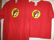 BUC-EE Tshirt IT'S A BEAVER mens large or youth small boys Red Shirt PREOWNED