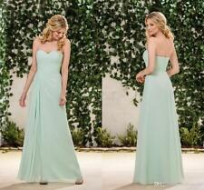 Mint Green Bridesmaid Evening Dresses Sweetheart Formal Party Prom Gowns HD034
