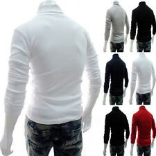 New Turtle Neck Solid Turtleneck Stretch Shirt Knit Sweaters Mens Thermal Cotton