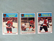 Three Philadelphia Flyers 1975-76 TOPPS Hockey Cards NHL Stanley Cup Champions