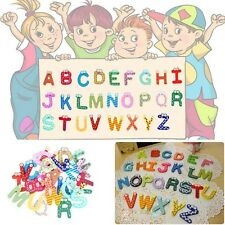 Hot 26 Letters 10 Numbers Childrens Kids Alphabet Spelling Fridge Magnets Toy W