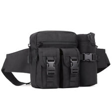 Military Outdoor Waist Belt Bag Bum Fanny Pack with Water Bottle Holder Pouch