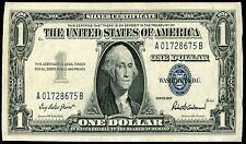 """1957 $1 ONE DOLLAR BLUE SEAL SILVER CERTIFICATE CURRENCY NOTE """"SHRUNK"""""""