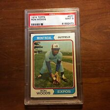 1974 Topps #377 Ron Woods PSA 9 Mint