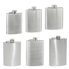 Portable 4-10 Oz Stainless Steel Hip Liquor Whiskey Alcohol Flask Cap Exotic