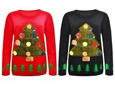 Unisex Ladies Womens Mens Vintage Christmas Xmas Tree Novelty Jumper Sweater