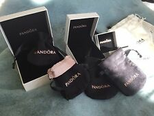 New AUTHENTIC PANDORA Ring/Charm/Bead/Bracelet Gift Box or Cloth Pouch