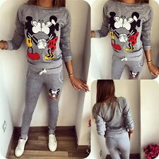 Hot 2Pcs Women Casual Sport Tops Sweatshirt Track Pants Sweat Suits Tracksuit