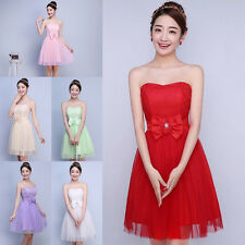 Sexy Women Cocktail Party Bowknot Wedding Bridesmaid Short Dress Prom Ball Gown