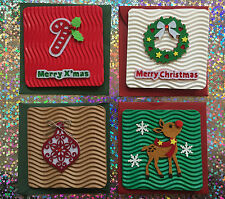 8 Pack of Beautifully Crafted Handmade Christmas Cards - Assorted