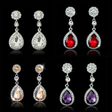 1Pair Fashion Jewelry  Women Waterdrop Ear Studs Crystal Rhinestone Earrings