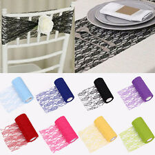 """Tulle Roll Spool Lace Roll 6""""x10YD Skirt Chair Sash Bow Table Runner Supplies"""