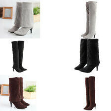 Sexy Ladies Block Over Knee High New Women Boots Winter Long Thigh Boots Shoes