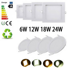 6W/12W/18W/24W LED Recessed Light Panel Ceiling DownLights Slim Round Square