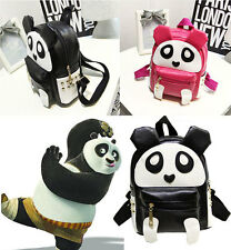 2016 Cute Panda Schoolbag Children Kids Kindergarten Backpack Shoulder PU Bag