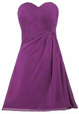 Knee Length Sweetheart Bridesmaid Dresses Sleeveless Cocktail Party Gowns HD083