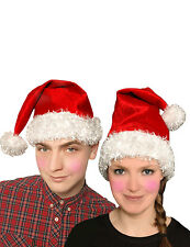 New  CHRISTMAS UNISEX RED FATHER SANTA HAT VELVET XMAS PARTY FANCY DRESS COSTUME