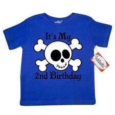 Inktastic 2nd Birthday Pirate Skull Toddler T-Shirt And Crossbones Two 2 Year