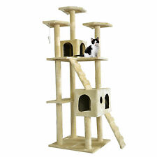 "New 73"" Cat Tree Scratcher Play House Condo Furniture Toy Bed Post Pet House T07"