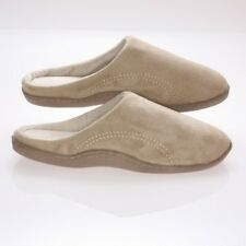 Living Health Products SMSF-910-BEI Mens Memory Foam Slippers - Beige Suede Micr