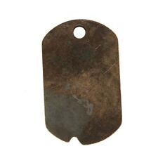 Vintaj Natural Brass Brass Dog Tag Pendant 32mm x 19mm (1). Delivery is Free