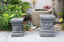 NEW Balinese Hand Crafted Stands / Plinth / Pedestal with Frangipani Motif