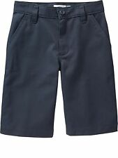 NWT Old Navy Boys 10 / 14 / 16 Plain Front Uniform Dress Shorts NAVY BLUE #10412