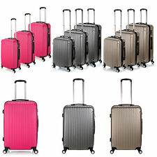 Luggage Lightest Trolley 3Pc Suitcase Set Cabin Bag ABS Suitcase 4 Wheel Spinner