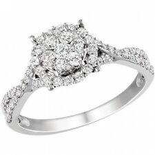 1/2 Carat T.W. Diamond 10kt White Gold Fashion Ring. Free Delivery