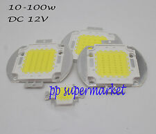 DC12V 10W 20W 30W 50W Cold White 6000-6500K High Power LED chip White bulb Flood