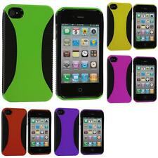 Color Hybrid Hard/TPU 2-Piece Case Skin Cover Accessory for iPhone 4 4S 4G