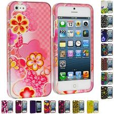 For iPhone 5 5G 5th Color Design Hard Snap-On Rubberized Case Cover Accessory