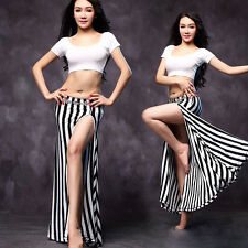 New Tribal 2016 Women Belly Dance Costume Set Practice 2Pics Top&Long Skirt M L