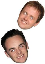 Ant and Dec Card Celebrity Face Masks BGT Party Hosts Geordie Lads Joke Jungle