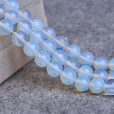 """4-10mm Round Synthetic Opal Beads Loose Gemstone Beads for Jewelry Making 15"""""""