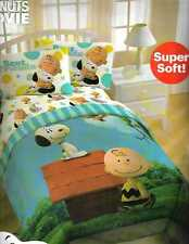CHARLIE BROWN & SNOOPY Peanuts Movie TWIN 5p Bedding Comforter Sheet Set Valance
