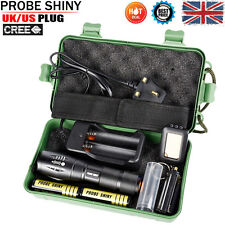 8000LM CREE T6 LED ZOOM TACTICAL MILITARY GRADE TACTICAL FLASHLIGHT TORCH Kits