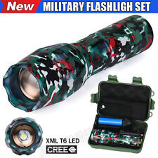 G700 8000LM Cree T6 LED Tactical Flashlight Zoom Military Torch Focus Light Set