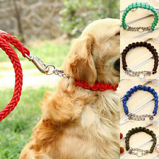 NEW Pet Large Dog Braided Dog Traction Leads Collar 6color