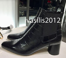 ZARA WOMAN EMBOSSED LEATHER HIGH HEEL ANKLE BOOTS 35-41 REF. 2112/201