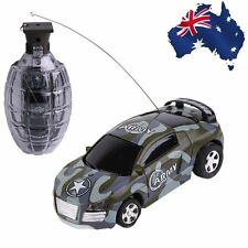Super Mini Remote Control Car High Speed Hand Grenade Shaped Shell Toy Gift BX