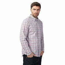 Maine New England Mens Red And Blue Checked Shirt From Debenhams