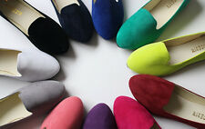 New Women's Suede Boat Shoes Casual Slip On Flats Shoes Loafers Ballet Shoes