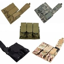 Tactical Velcro PALS MOLLE AR M4 5.56/.223 Triple Magazine Pouch Mag Holder Bags