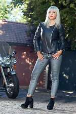 Women's Leather Jacket Jurata black Genuine Leather Lamb Nappa Biker Style