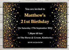 Birthday Invitations, Party Invites, 18th 21st 30th 40th 50th 60th any age Peg 3