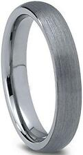 4mm Men or Ladies Tungsten Carbide Brushed Finished Domed Wedding Band Ring